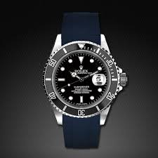 rubber bracelet watches images Navy blue rubber watch bands for rolex rubber b jpg