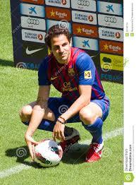 cesc fabregas of fc barcelona editorial stock image image 20740114