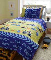 diggers tractor kids reversible double bed duvet cover quilt