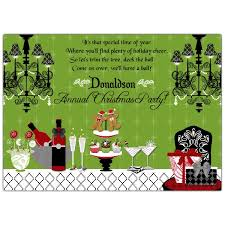christmas party invitations deck the halls buffet christmas party invitations paperstyle