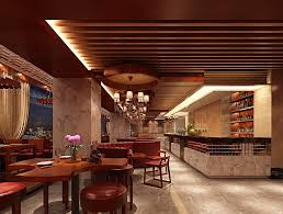 restaurant design ideas comes with wooden plank ceiling decor and