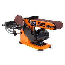 wen 4 x 36 in belt and 6 in disc corded sander with steel base