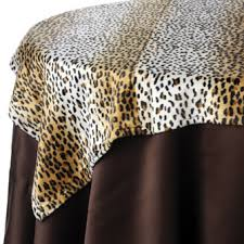 table cover rentals animal print table linen rentals
