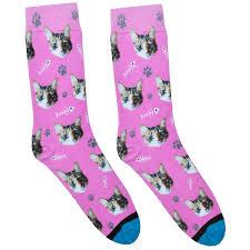 personalized socks custom cat socks divvyup