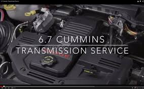 6 7 cummins transmission service youtube