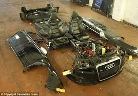 audi ebay stolen luxury cars broken to their component parts in