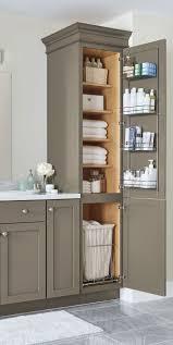 organize bathroom sink cabinet