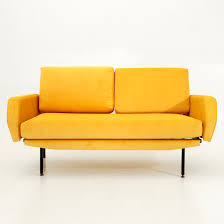 Velvet Sofa Bed Italian Yellow Velvet Sofa Bed 1950s For Sale At Pamono