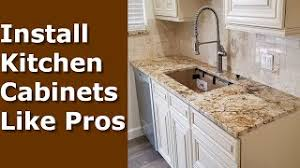 diy kitchen cabinets install installing kitchen cabinets diy how to install like pros