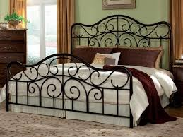 bedroom king size iron bed vintage bed frames wrought iron bed