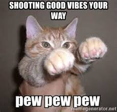 Kitty Meme Generator - shooting good vibes your way vibe kitty meme generator