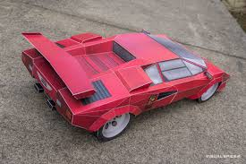 car lamborghini pink lamborghini countach inspired printach papercraft sports car