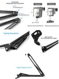 amazon com microphone stand maono b01 microphone suspension boom