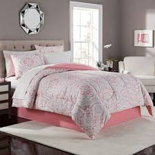 Pink And Gray Comforter Buy Coral Bedding Sets Full From Bed Bath U0026 Beyond