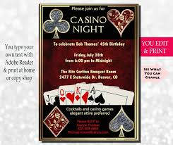 Carlton Cards Invitations Casino Night Invitation Casino Invitation Casino Party