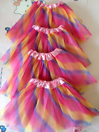 2017 2016 new rainbow color kids tutus skirt dance dresses soft