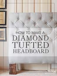 Fabric For Upholstered Headboard by How To Make A Diamond Tufted Headboard