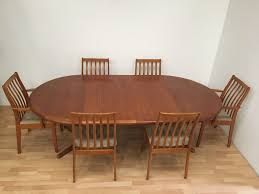 rare danish vamdrup stolefabrik mid century teak dining table and