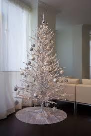 white and silver christmas tree christmas lights decoration