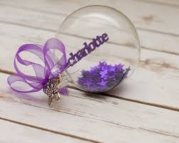 personalised papercut glass filled bauble krafty