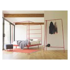 copeland red metal four poster uk double bed 135cm interiors