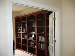furniture graceful modern bookcase library design with round