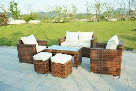 Rattan Patio Table Ensenada Sunbrella 6 Outdoor Wicker Patio Furniture