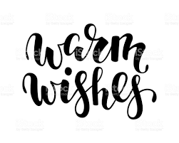 warm wishes creative calligraphy brush pen lettering