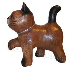 wooden cat small wooden cat 4 paw raised cat carved cats wood carvings ebay