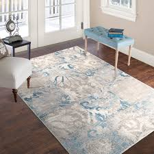 Gray Blue Area Rug Plyh Vintage Gray Blue Area Rug Reviews Wayfair