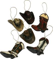 cowboy ornaments 6 pack cowboy ornaments cowboy hat