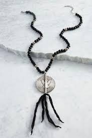 versona black friday versona stone and metal tassel necklace versona jewelry nks