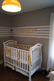 interior design singular yellow and grey baby room decor image