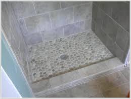 river rock tile bathroom floor tiles home decorating ideas