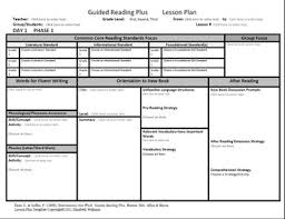 Reading Intervention Lesson Plan Template guided reading plus lesson plan template multi grade levels 1 3 tpt