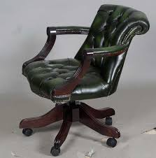 Leather Office Desk Chairs Enchanting 25 Green Leather Desk Chair Design Ideas Of