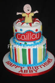 caillou birthday cake caillou birthday cake cake by virginia cakesdecor