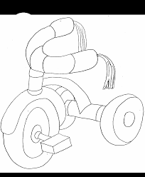 tricycle transportation coloring pages u0026 coloring book