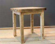Reclaimed Wood Bistro Table Speaker Stands Side Tables Pair Handmade Contemporary Rustic