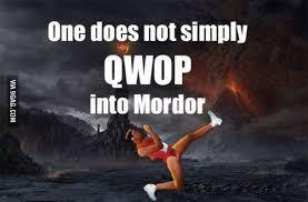 Qwop Meme - one does not simply qwop into mordor 9gag
