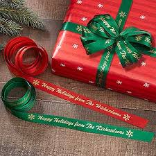personalized satin ribbon personalized wrapping ribbon finishing touches christmas gifts