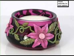 handmade clay candle holder designs home decor picture ideas