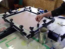 Stretching Table by Print Shop How To Re Stretch Your Silkscreen Frame Spark Box Studio