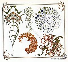 nouveau dandelion ornaments by alfons mucha lost and found