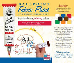 aunt martha u0027s ballpoint paint 8 pack primary colonial patterns