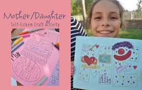 mother daughter self esteem craft activity idea club chica