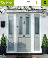 front doors silvaner glass design in a slate grey front door