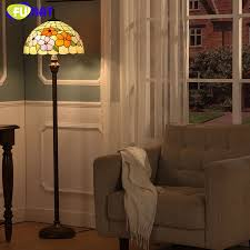 Stained Glass Floor Lamp Fumat Modern Brief European Style Stained Glass Floor Lamp For