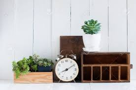 vintage home decore vintage home decor old wooden boxes houseplants alarm clock