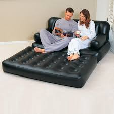 nashware 5 in 1 inflatable sofa air bed couch with free electric